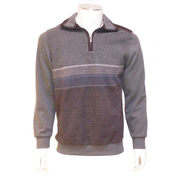 Polo Sweat Bicolore Fango Acier Marron OLIVER HOLTON