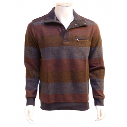 Polo Sweat Rayure Rust OLIVER HOLTON