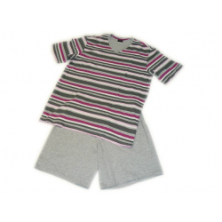 Pyjashort Rayé Gris/Rose SEIDEN STICKER