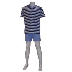 Pyjashort Rayé Bleu Ciel SEIDEN STICKER